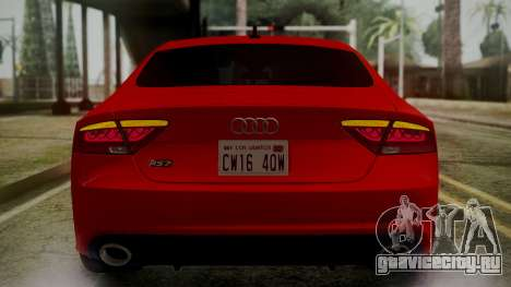 Audi RS7 2014 для GTA San Andreas двигатель