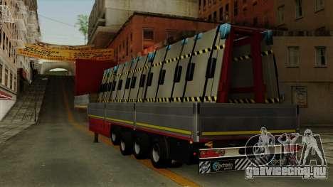 Flatbed3 Red для GTA San Andreas вид слева
