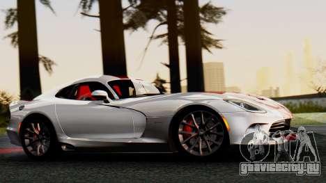 Dodge Viper SRT GTS 2013 IVF (MQ PJ) HQ Dirt для GTA San Andreas вид сзади слева