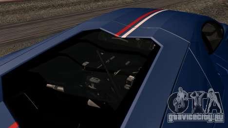 Lamborghini Aventador LP 700-4 Captain America для GTA San Andreas салон