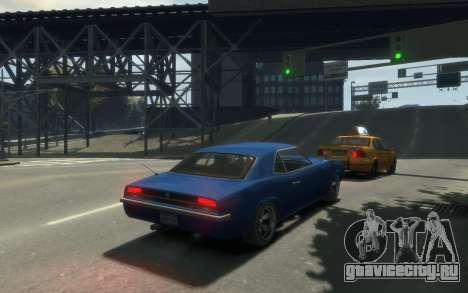 Declasse Vigero Cabrio для GTA 4 вид изнутри