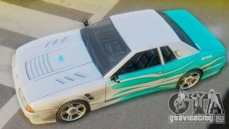 Elegy New Paintjob для GTA San Andreas вид сзади слева