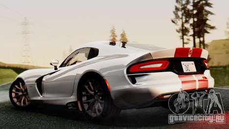 Dodge Viper SRT GTS 2013 IVF (MQ PJ) HQ Dirt для GTA San Andreas вид изнутри