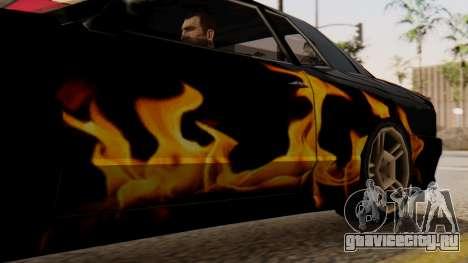 Винил для Elegy - Пламя для GTA San Andreas вид сзади слева