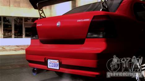 GTA 5 Declasse Asea для GTA San Andreas вид изнутри
