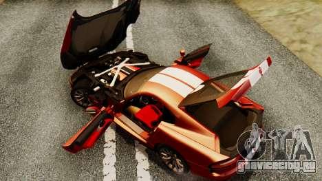 Dodge Viper SRT GTS 2013 IVF (MQ PJ) HQ Dirt для GTA San Andreas вид сверху