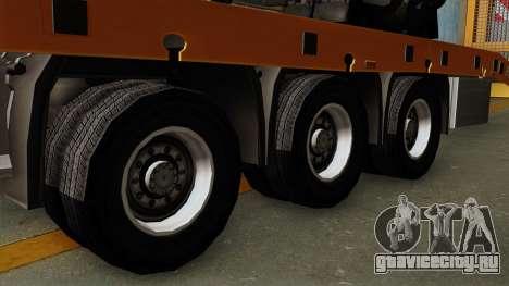 Trailer Fliegl Cargo для GTA San Andreas вид сзади слева