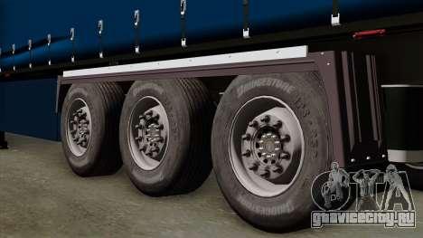 Trailer Krone Profiliner v2 для GTA San Andreas вид сзади слева