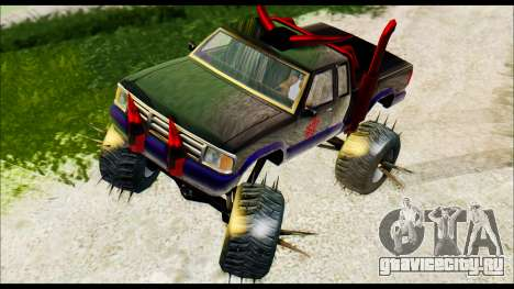 Predaceptor Monster Truck (Saints Row GOOH) для GTA San Andreas вид сзади слева