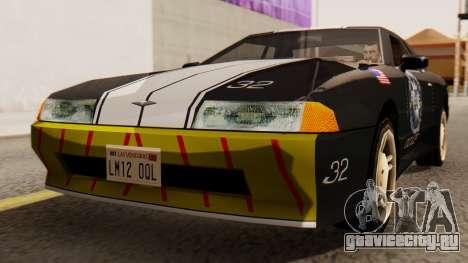 Elegy Police Edition для GTA San Andreas вид справа