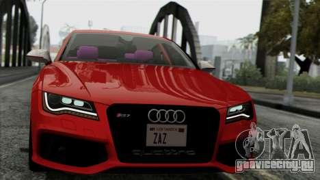Audi RS7 2014 для GTA San Andreas вид сзади слева