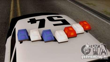 GTA 5 LS Police Car для GTA San Andreas вид сзади