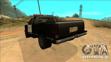 New Yosemite Police v2 для GTA San Andreas вид снизу