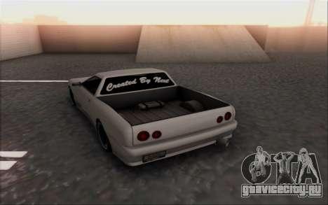 Elegy Pickup By Next для GTA San Andreas вид сзади слева