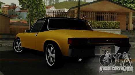 Porsche 914 1970 для GTA San Andreas вид слева