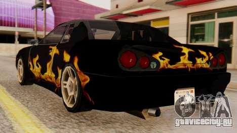 Винил для Elegy - Пламя для GTA San Andreas вид слева