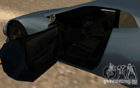 GTA 3 Infernus SA Style v2 для GTA San Andreas вид изнутри