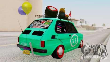 Fiat 126 bis B.O. Yapım для GTA San Andreas вид слева