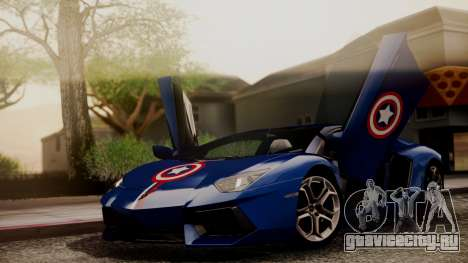 Lamborghini Aventador LP 700-4 Captain America для GTA San Andreas вид сверху