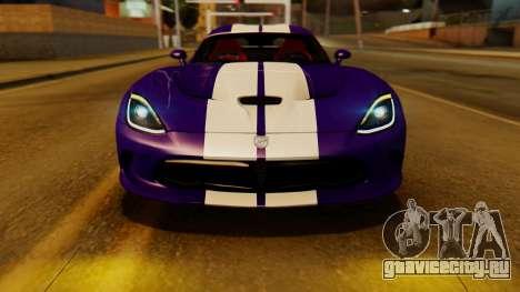 Dodge Viper SRT GTS 2013 IVF (HQ PJ) HQ Dirt для GTA San Andreas вид справа