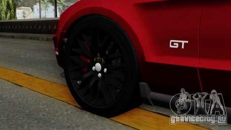 Ford Mustang GT 2010 для GTA San Andreas вид сзади слева