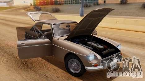 MGB GT (ADO23) 1965 HQLM для GTA San Andreas вид сзади