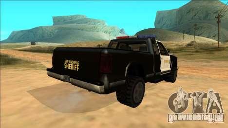 New Yosemite Police v2 для GTA San Andreas вид сбоку