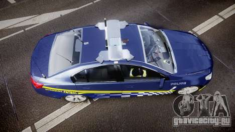 Holden VF Commodore SS Highway Patrol [ELS] v2.0 для GTA 4 вид справа