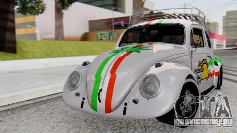 Volkswagen Beetle Vocho Nyan Cat V Mexicano для GTA San Andreas
