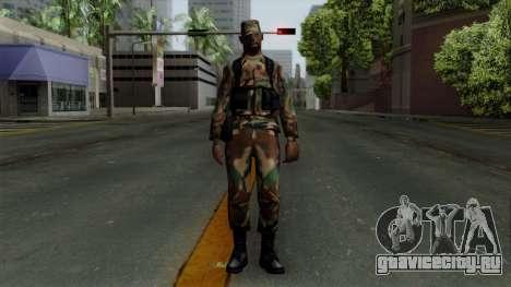 Армеец афроамериканец в стандартном камуфляже для GTA San Andreas второй скриншот