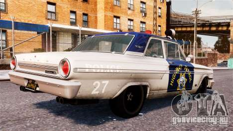 Ford Fairlane 1964 Police для GTA 4 вид слева