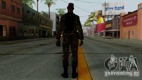 Армеец афроамериканец в стандартном камуфляже для GTA San Andreas третий скриншот