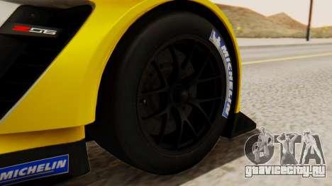 Chevrolet Corvette C7R GTE 2014 PJ2 для GTA San Andreas вид сзади слева