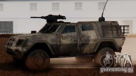 BAE Systems JLTV Extra Skin для GTA San Andreas вид слева
