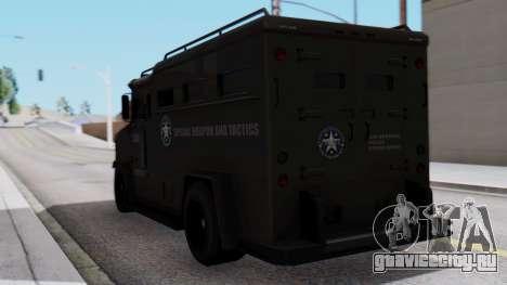 GTA 5 Enforcer S.W.A.T. для GTA San Andreas вид слева