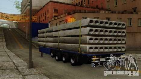 Flatbed3 Yellow для GTA San Andreas вид слева