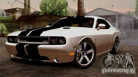 Dodge Challenger SRT8 392 2012 Stock Version 1.0 для GTA San Andreas вид изнутри