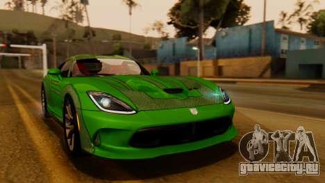 Dodge Viper SRT GTS 2013 IVF (HQ PJ) HQ Dirt для GTA San Andreas вид сбоку