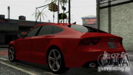 Audi RS7 2014 для GTA San Andreas вид сзади
