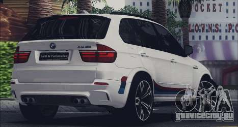 BMW X5M MPerformance Packet для GTA San Andreas вид слева