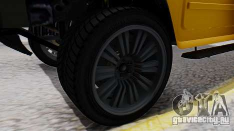 GTA 5 Patriot для GTA San Andreas вид сзади слева