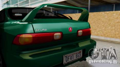 Acura Integra Fast and Furious для GTA San Andreas вид сзади