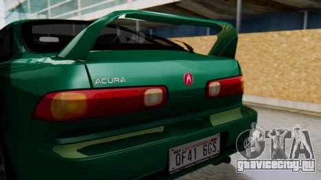 Acura Integra Fast and Furious для GTA San Andreas вид сзади