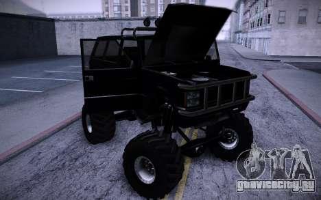 Huntley Monster v3.0 для GTA San Andreas вид сзади