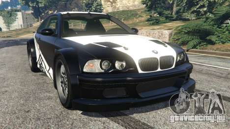 BMW M3 GTR E46 white on black для GTA 5