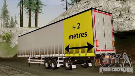 Trailer 15 meters для GTA San Andreas вид слева