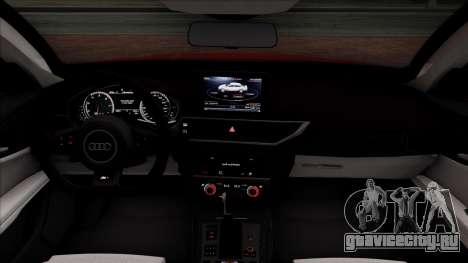 Audi RS7 2014 для GTA San Andreas вид изнутри