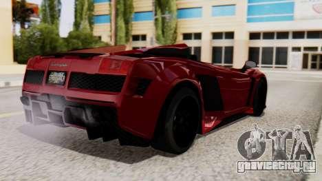 Lamborghini Gallardo J Style для GTA San Andreas вид слева