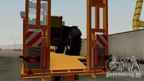 Trailer Fliegl Cargo для GTA San Andreas вид сзади