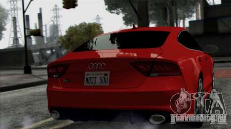 Audi RS7 2014 для GTA San Andreas вид справа